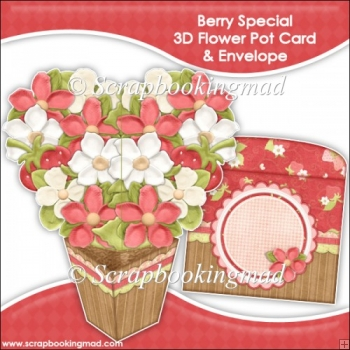 Berry Special 3D Flower Pot & Envelope