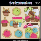 Birthday Sugar Cookies ClipArt Graphic Collection