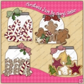 Christmas Jars Reindeer Graphic Collection - REF - CS