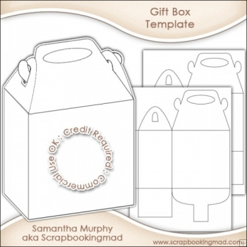 Gift Box Template Commercial Use OK