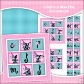 Christmas Snowflake In Pink & Blue Decoupage Download