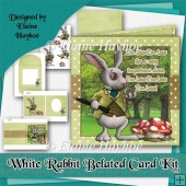 White Rabbit Belated Card Kit