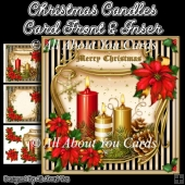 Christmas Candles Card Front & Insert