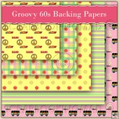 Groovy 60s Backing Papers Download (C98)