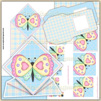 Butterfly Spring Card & Pyramage PDF Download