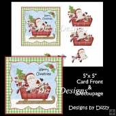Santa and Sleigh Card Front