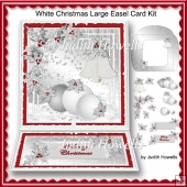 White Christmas Large Easel Card Kit