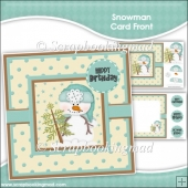 Snowman Card Front & Insert Panel Kit
