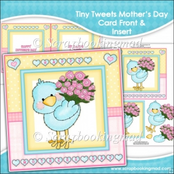 Tiny Tweets Mothers Day Card Front