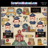 Back To School ClipArt Graphic Collection