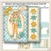 Modern Girl Asymmetric Fold Pyramid Card Kit