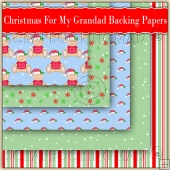 5 Cute Christmas For My Grandad Backing Papers Download (C203)