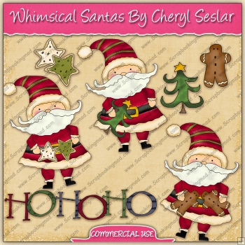 Whimsical Santa's Graphic Collection - REF - CS