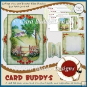 Cottage View 7x7 Bracket Edge Shadow Box Fold Card Kit