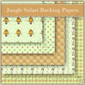5 Jungle Safari Backing Papers Download (C63)