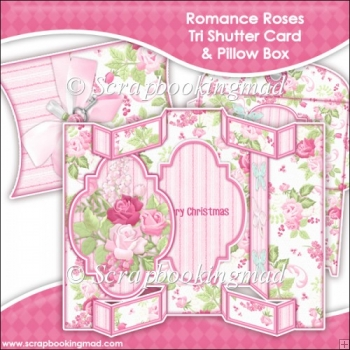 Romance Roses Tri Shutter Card With Matching Pillow Box