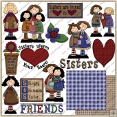 Ms Mollys Sisters N Friends ClipArt Graphic Collection