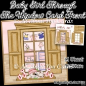 Baby Girl Through The Window Card Front