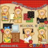 Chubby Cubby School Days ClipArt Graphic Collection