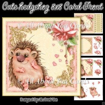 Cute hedgehog Card Front