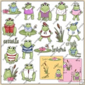 Froggie Friends ClipArt Graphic Collection