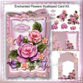 Enchanted Flowers Scalloped Card Kit
