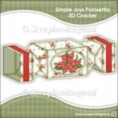 Simple Joys Poinsettia 3D Cracker Gift Box