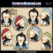 Snowflake Penguins ClipArt Collection