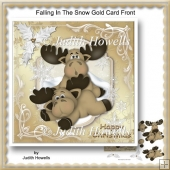 Falling In The Snow Gold Card Front