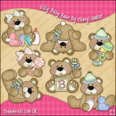 Silly Baby Bear ClipArt Graphic Collection