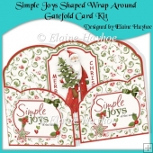 Simple Joys Shaped Wrap Around Gatefold Card Kit
