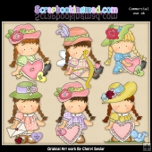 Agnus Sweet Valentine ClipArt Collection