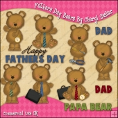 Fathers Day Bears ClipArt Graphic Collection