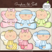 Baby Angels 1 ClipArt Graphic Collection