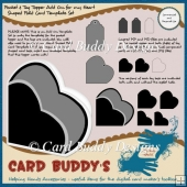 Pocket & Tag Topper Add On for my Heart Shaped Fold Card Templat