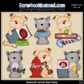 Tuff And Tiger Everyday ClipArt Collection