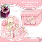 Grin N Bear It 3D Pop Up Easel Card & Presentation Box