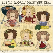 Little Audrey Backyard BBQ ClipArt Graphic Collection