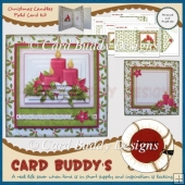 Christmas Candles Fold Card Kit