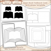 6X6 Open Book Foldback Card Kit Templates Commercial Use