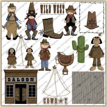 Wild West 2 ClipArt Graphic Collection