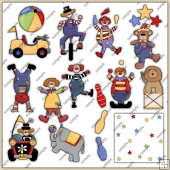 Circus Fun ClipArt Graphic Collection