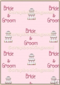 A4 Backing Papers Single - Pink Wedding - REF_BP_120