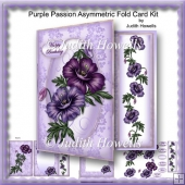 Purple Passion Asymmetric Fold Card Kit