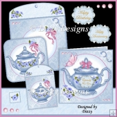 Petunia Teapot Card Kit