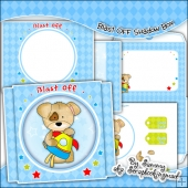 Blast Off Shadow Box Card & Envelope