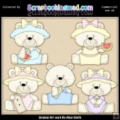 Beasley Spring Bears 2 Clipart Graphics Download