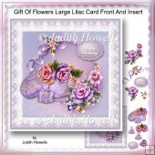 Gift Of Flowers Large Lilac Card Front And Insert