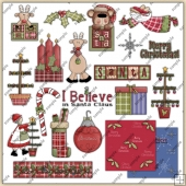 Country Christmas ClipArt Graphic Collection