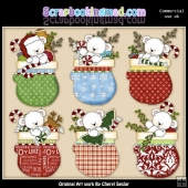 Polar Bear Mittens ClipArt Collection